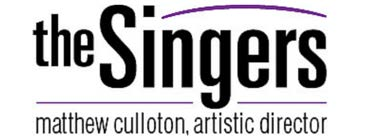 The Singers logo with Matthew Culloton, artistic director